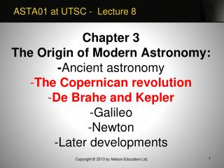 ASTA01 at UTSC -  Lecture 8