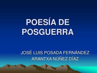 POESÍA DE POSGUERRA