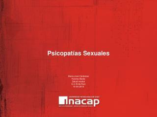 Psicopatías Sexuales
