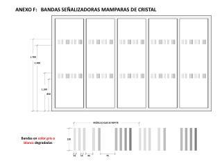 ANEXO F:   BANDAS SEÑALIZADORAS MAMPARAS DE CRISTAL