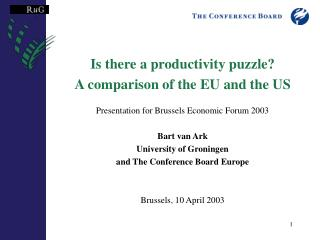 Is there a productivity puzzle? A comparison of the EU and the US