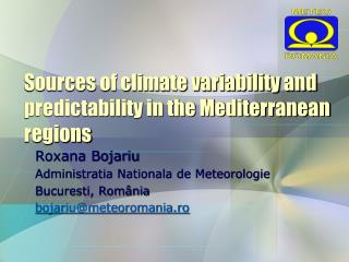 Sources of climate variability and predictability in the Mediterranean regions