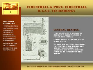 INDUSTRIAL & POST- INDUSTRIAL H.V.A.C. TECHNOLOGY