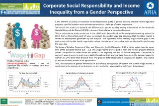 Corporate Social Responsibility and Income Inequality from  a  Gender Perspective