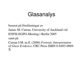 Glasanalys