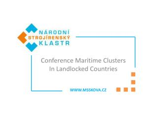 Conference Maritime Clusters  In  Landlocked Countries