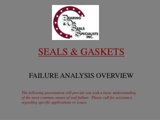 SEALS  GASKETS