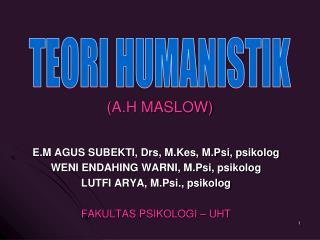 (A.H MASLOW)