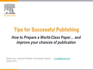 Tips for Successful Publishing