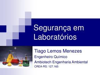 Segurança em Laboratórios