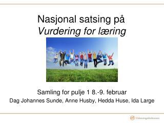 Nasjonal satsing på  Vurdering for læring