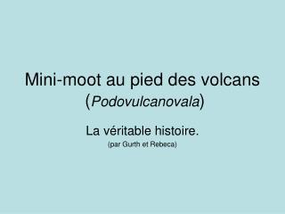 Mini-moot au pied des volcans  ( Podovulcanovala )