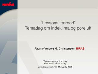 Fagchef  Anders G. Christensen, NIRAS