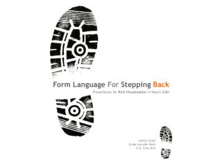 Form Language  For  Stepping  Back