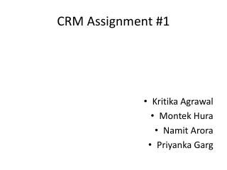 CRM Assignment #1