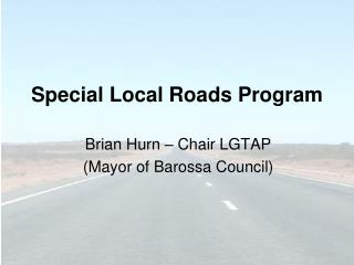 Special Local Roads Program