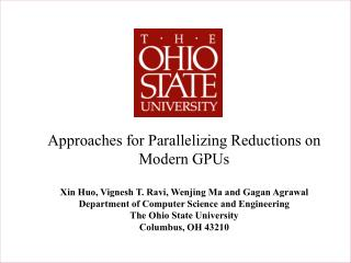 Approaches for Parallelizing Reductions on Modern GPUs