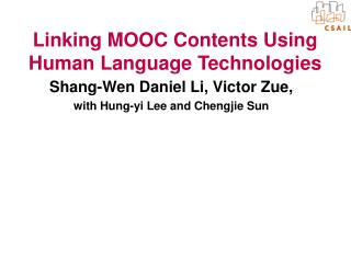 Linking MOOC Contents Using Human Language Technologies