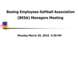 Boeing Employees Softball Association