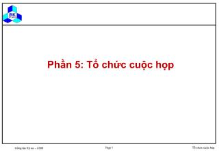 Ph?n 5: T? ch?c cu?c h?p