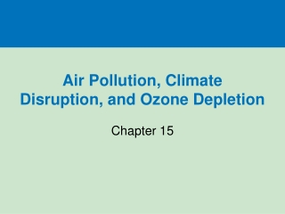 The Impact of Out Door Air Pollution on Respiratory System Among Children