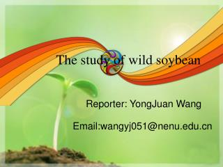 The study of wild soybean