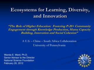 Ecosystems for Learning, Diversity, and Innovation