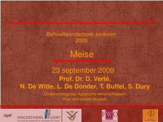 Behoefteonderzoek senioren 2009
