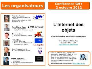Conférence G9+  2 octobre 2012