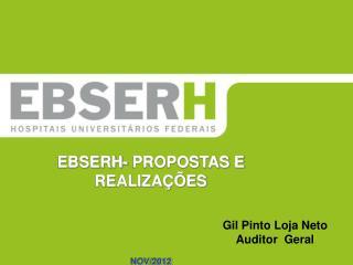 EBSERH- PROPOSTAS E REALIZAÇÕES NOV/2012