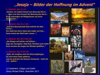 � Jesaja � Bilder der Hoffnung im Advent�