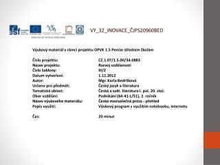 V Y_32_INOVACE_ ČJPS20960BED