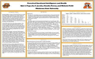 Perceived Emotional Intelligence and Health