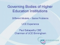 Governing Bodies of Higher Education Institutions