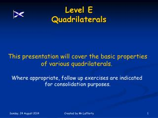 Level E  Quadrilaterals
