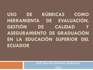 MAE Mauricio Quintana  Jedermann UEES
