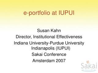 e-portfolio at IUPUI