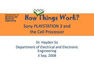 Sony  PLAYSTATION 3  and  the Cell Processor