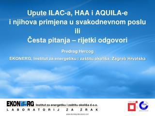 Predrag Hercog EKONERG, Institut za energetiku i zaštitu okoliša, Zagreb Hrvatska