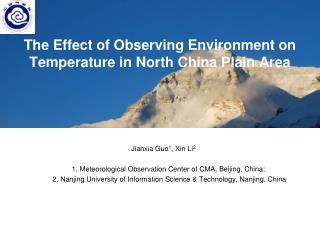 The Effect of Observing Environment on Temperature in North China Plain Area