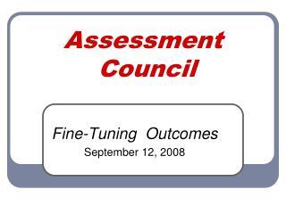 Assessment  Council