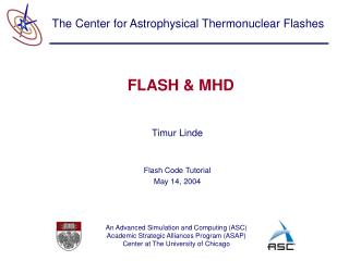 FLASH & MHD