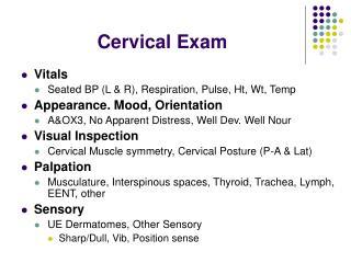 Cervical Exam