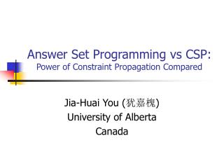 Answer Set Programming vs CSP:  Power of Constraint Propagation Compared