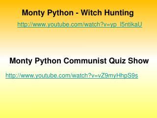 Monty Python - Witch Hunting