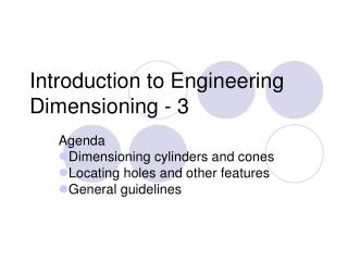 Introduction to Engineering Dimensioning - 3