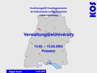 Verwaltung@eUniversity