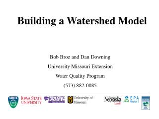 Building a Watershed Model