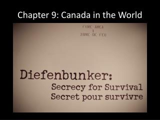 Chapter 9: Canada in the World