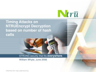 Timing Attacks on NTRUEncrypt Decryption based on number of hash calls